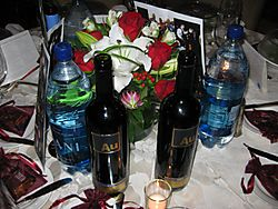 Wine on table